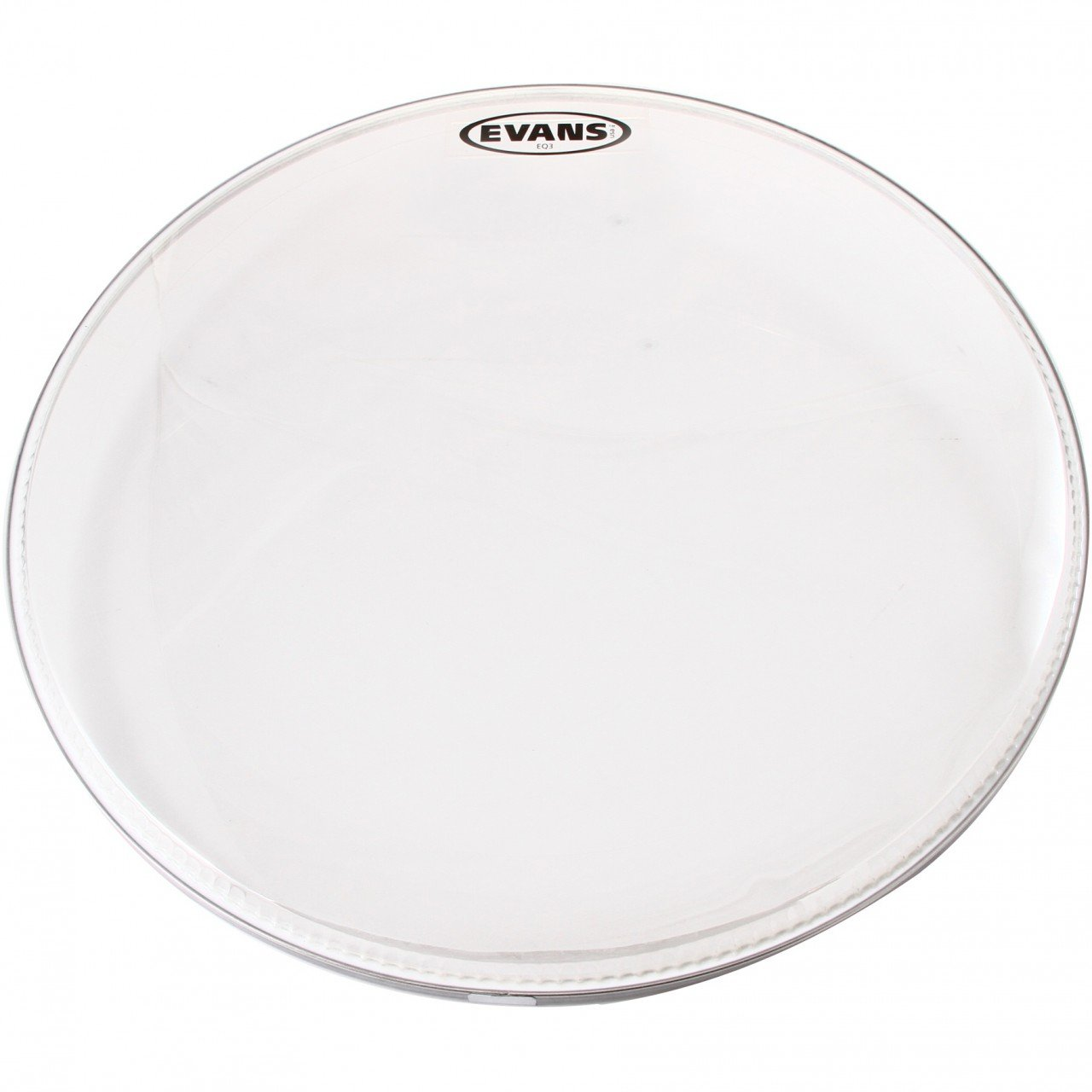 Evans Heads BD22RGCW-NP 22-Inch EQ3 Resonant Coated Bass Drum Heads - White