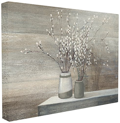 (Stupell Industries Pussy Willow Still Life XXL Stretched Canvas Wall Art, Proudly Made in USA)