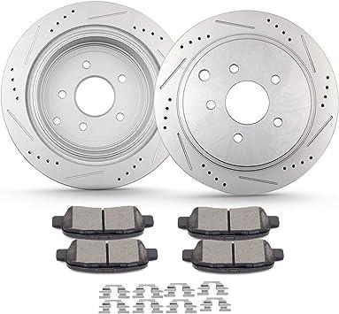 Rear Disc Brake Rotors And Ceramic Pads Kit For Nissan Murano Infiniti Pathfinder QX60 Q50 Quest FX35 JX35 M37 Q60 QX70 Q70 Q70L FX45 FX37 M56 M35h