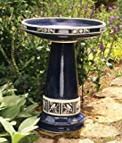 Cobalt Blue High Gloss Glazed Ceramic Bird Bath Set – Made in the USA