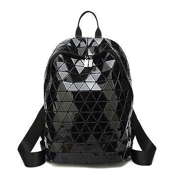Amazon Com Hienjoy Holographic Backpacks Geometric School Bag