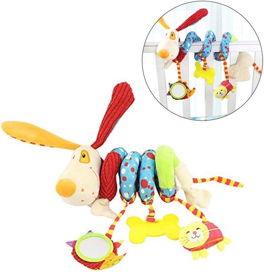 Gspirit Espiral Paseante Juguetes, Espiral Felpa Colgando Juguete por Bebé Educativo Juguete (A)