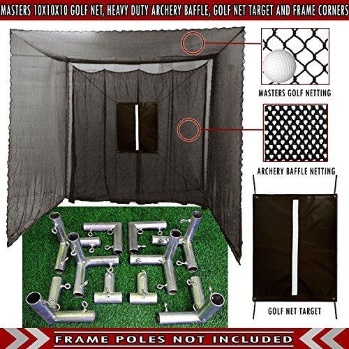 Cimarron 10x10x10 Masters Golf Net (Net and Frame Corners, ()