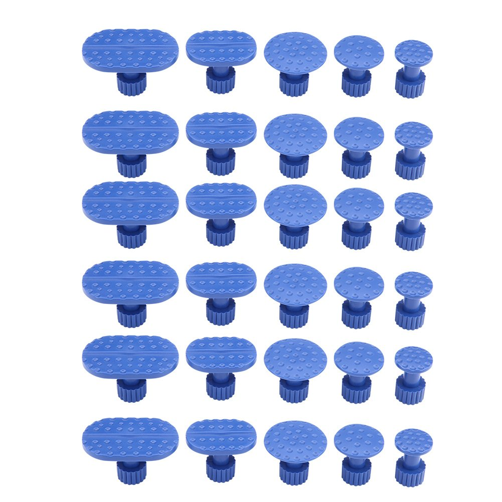 PDR Dent Puller - Carrozzeria rimozione dentatura linguette, strumenti di riparazione senza vernice, linguette per estrattore colla, 30 pezzi Dewin