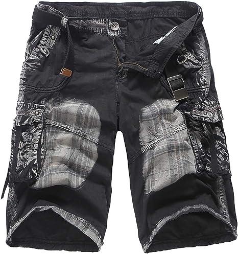 RISHENG Shorts de Hombre-Informal Cinco Pantalones de los Hombres ...