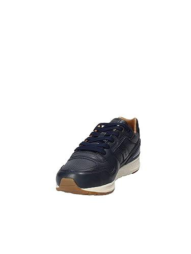 Train Sneakers Lauren Blue Leather Ralph 100 Polo ALq5Rj43