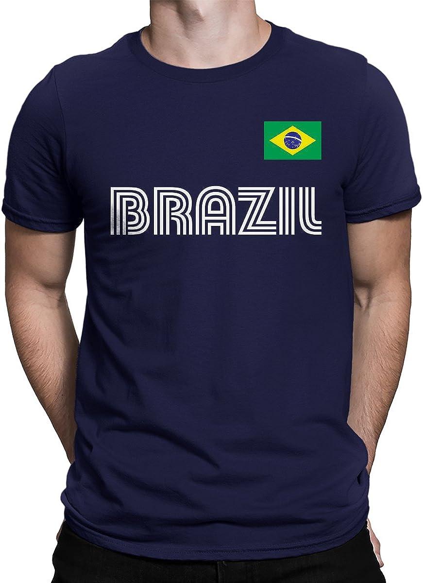 SpiritForged Apparel Brazil Soccer Jersey Men's T-Shirt