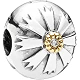 Pandora 790988CZ - Abalorio de oro bicolor de 14 quilates con circonita