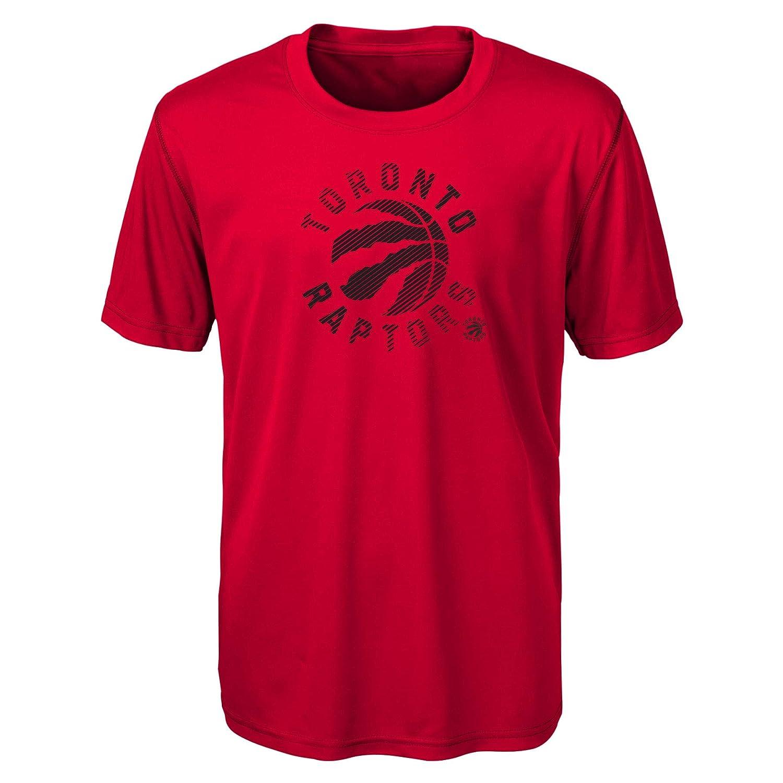 NBA Toronto Raptors Kids /& Youth Boys Motion Offense Short Sleeve Performance Tee Medium Red 5-6