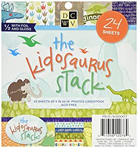 Die Cuts With A View Stack, 6-Inch by 6-Inch, Kidosaurus