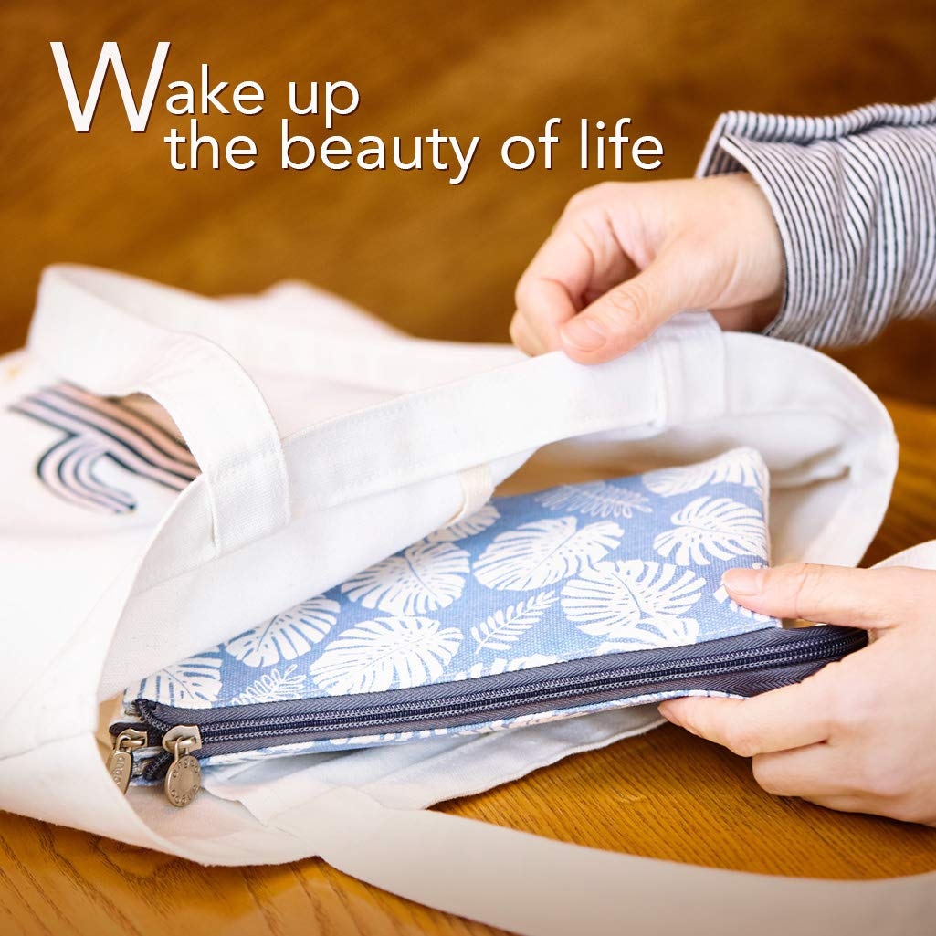 EASTHILL Big Capacity Pencil Pen Case Office College School Large Storage High Capacity Bag Pouch Holder Box Organizer Blue