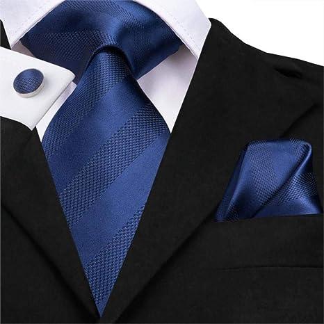 autentico grande qualità acquista online Cravatta da Uomo Blu Set di Cravatte da Uomo Set di Gemelli in ...