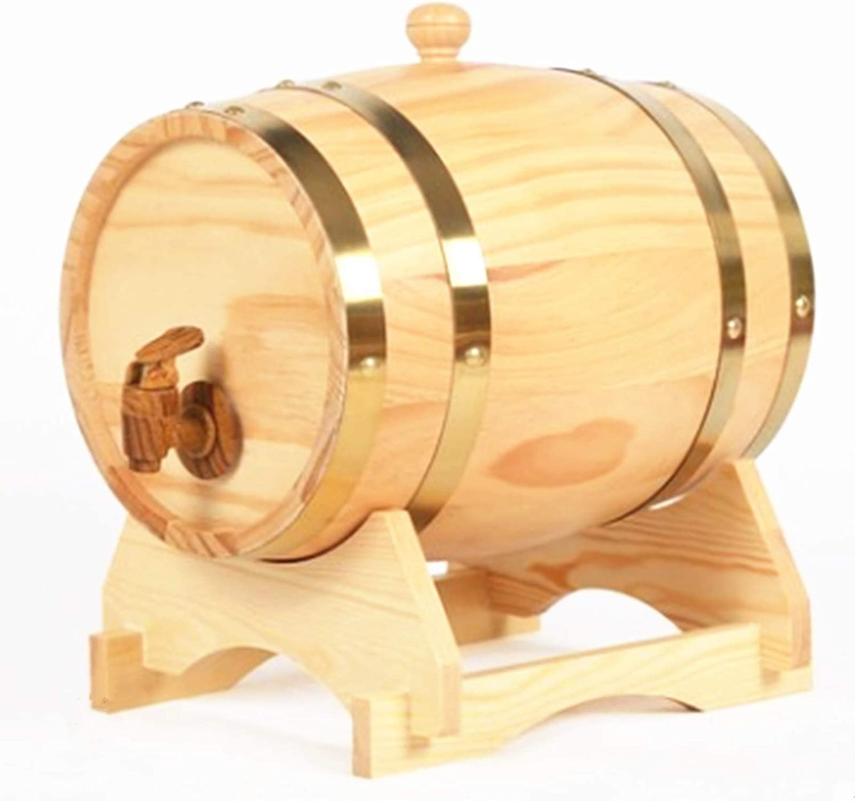 LeYin 3 liter pine barrel, suitable for bulk your own whisky, beer, wine, rum, tequila, blend more flavor