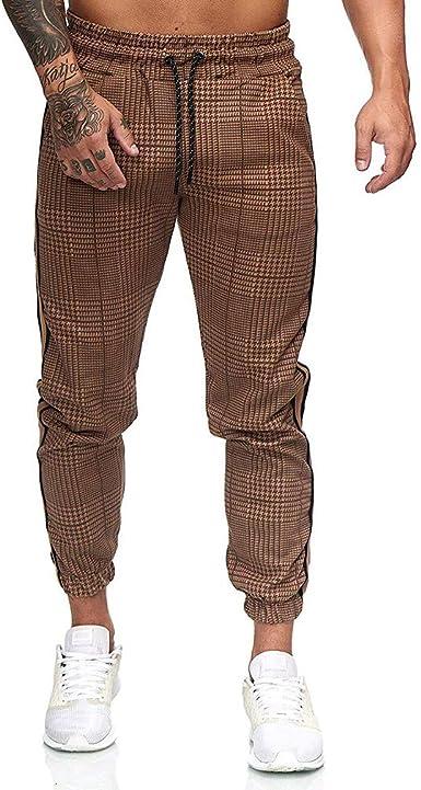 Yying Pantalones Casuales Hombre Pantalones Algodón Pantalones ...