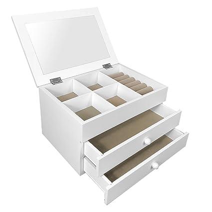 Spieldosen weiß Schmuckkästchen Beauty Box