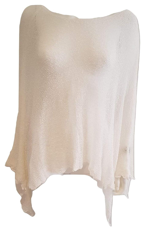 Sevello Clothing Italian Lagenlook Summer Fishnet Poncho Batwing Poncho 8-26 UK One Size
