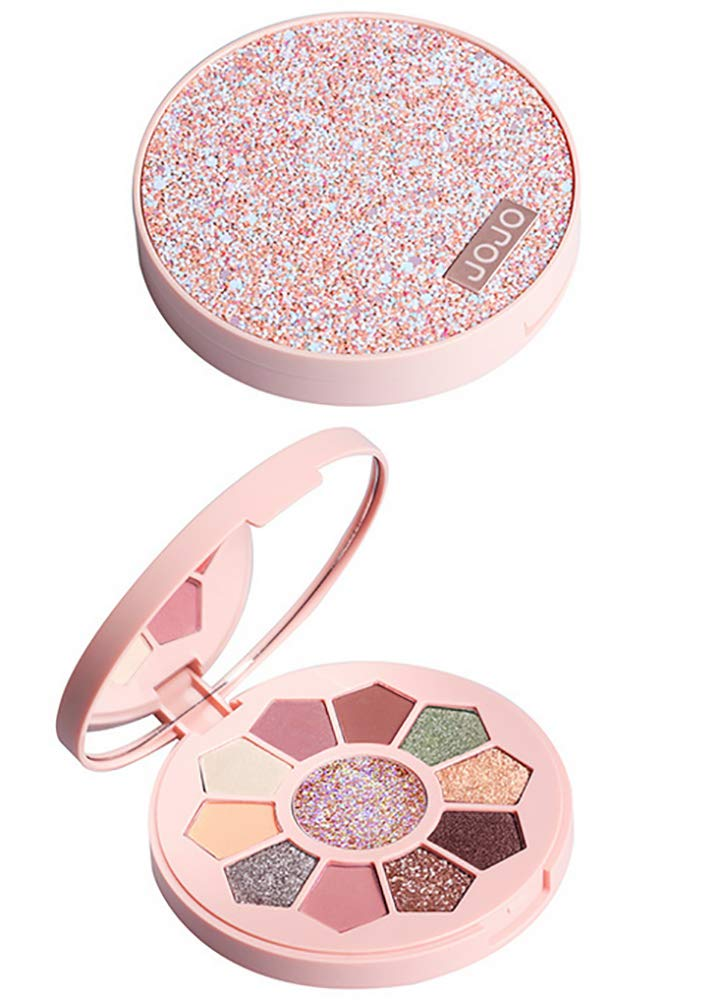 11 Color Eye Shadow Professional Eye Shadow Highlighter Makeup Warm Makeup Set High Pigment Eye Shadow Palette 0.63 Ounce