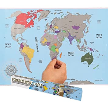 Large colorful scratch off world map poster travelers gift travel large colorful scratch off world map poster travelers gift travel adventure by crystals gumiabroncs Images