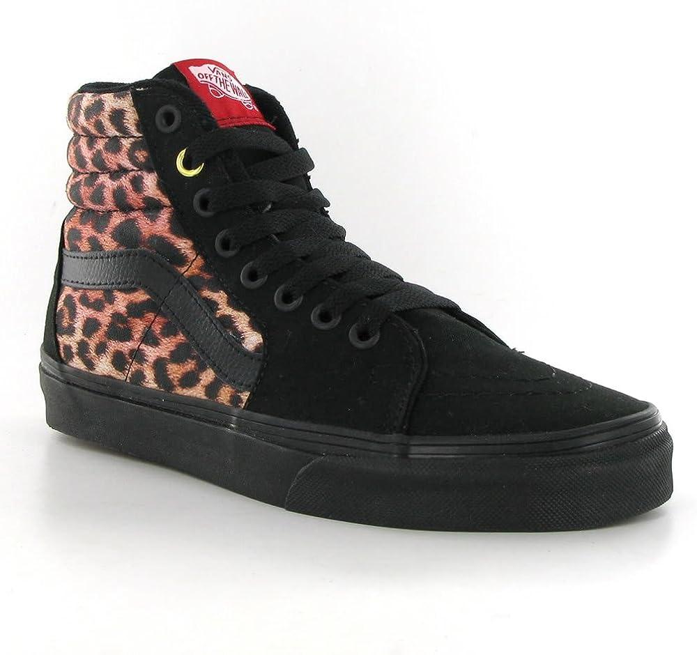 Vans SK8 Hi Black Leopard Canvas Womens