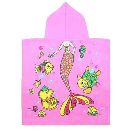 JUSTIDEA poncho toalla niño, Algodón Toalla de Bebé con Capucha, toalla de playa Toalla