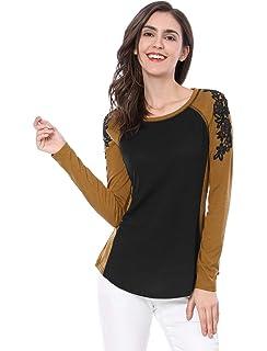 BOLAWOO T-Shirts Femme Printemps Elégante Haut Couleurs Mélangées Fleur Mode  Chic Rond Col Manches… EUR 9,66 · BOLAWOO Tshirt Élégant Femme Top Eté  Poches ... f4ad688d8ae0