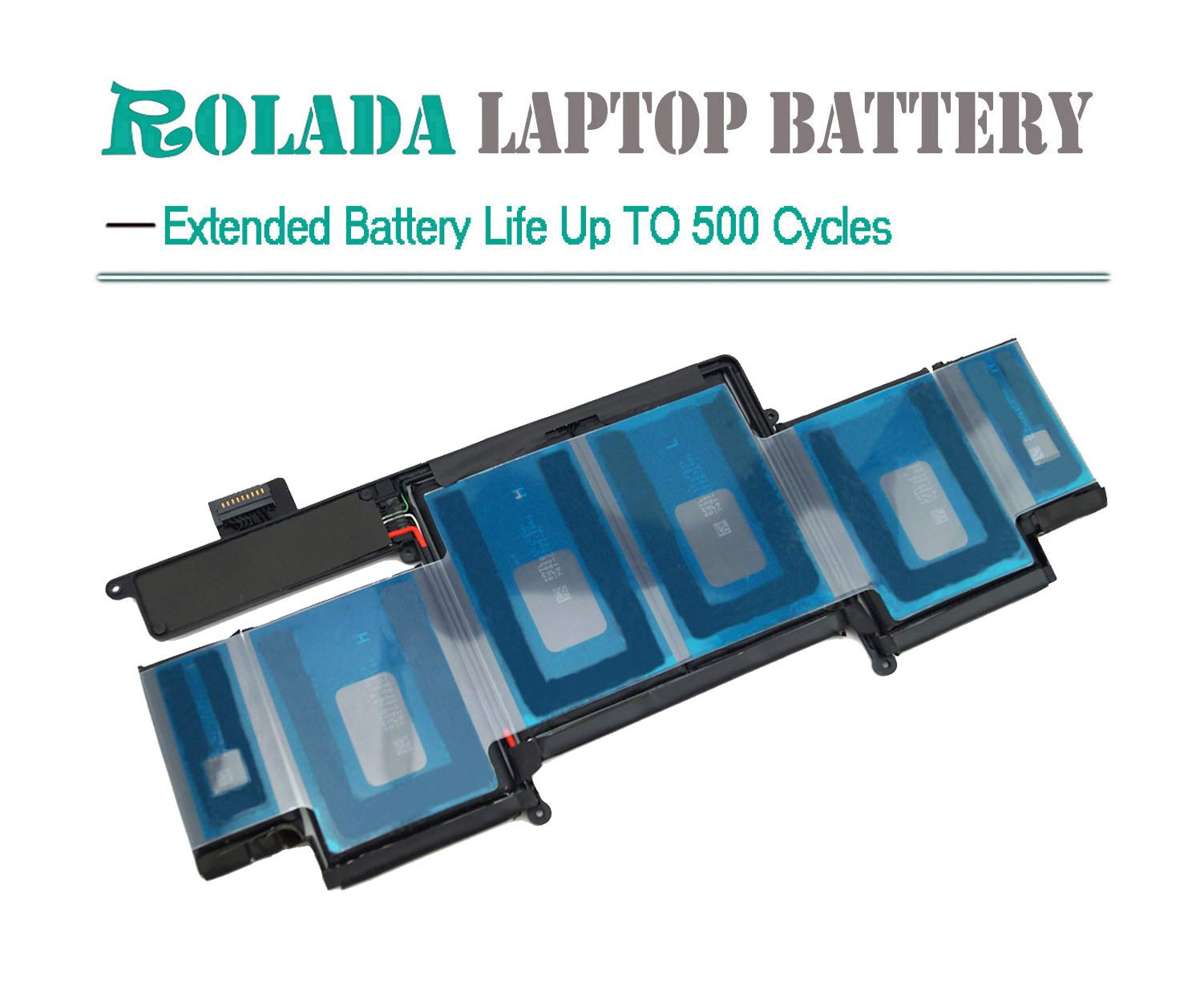 A1493 New Laptop Battery for Apple A1502 ME864LL/A ME866LL/A; MacBook Pro 13'' Retina Battery-Only for Late 2013, Mid 2014 Version [Li-Polymer 11.34V 71.8Wh] by ROLADA (Image #3)