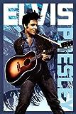 AQUARIUS Elvis Blue Poster Print, 24 by 36-Inch