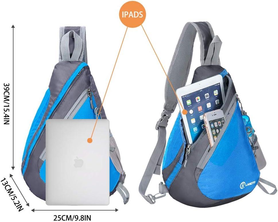 ZOMAKE Sling Backpack Crossbody Bag Shoulder Bag Travel Hiking Daypack Mini Chest Backpacks for Men Women