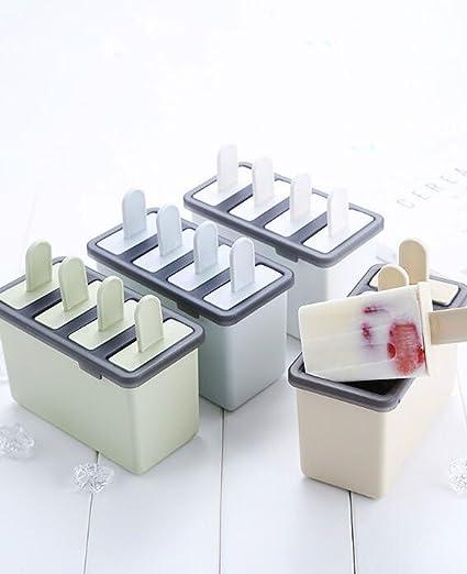 Bisj Ice Cube Moulds, moldes para Helados Hechos en casa Molde de Helado 16 Cajas