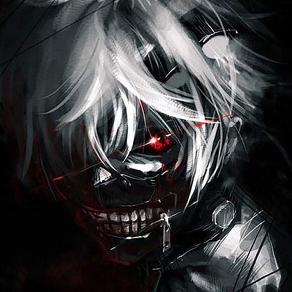 Skitior Respirant Tokyo Ghoul Kaneki Ken Masque De Costume R/églable Cosplay Halloween Masque en Cuir PU Mascarade