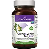 New Chapter Green Tea Supplement - Green and White Tea Force for Healthy Aging, Longevity + Energy + Non-GMO Ingredients - 60 ct Vegetarian Capsules