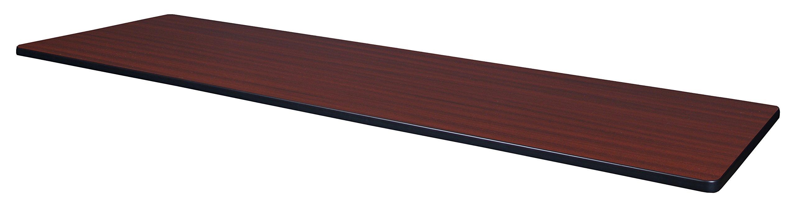 Regency 84'' x 24'' Rectangle Laminate Table Top- Mahogany/ Mocha Walnut by Regency (Image #1)