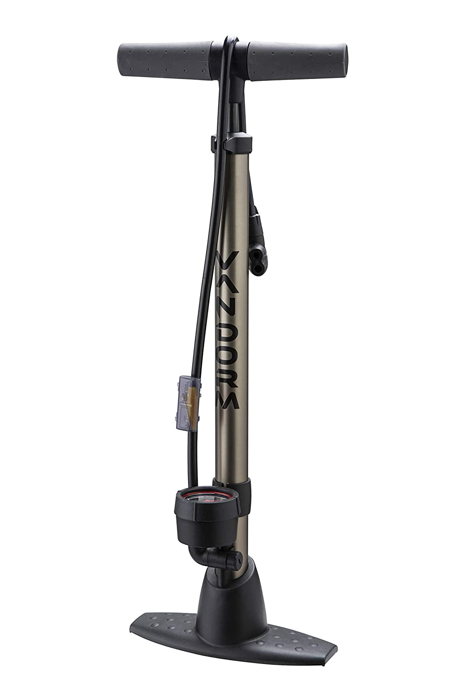 Vandorm Legend VII Track Pump Bicycle Cycle Alloy Floor Track Tyre Inflator Schrader/Presta valve tube Bike Pump with Gauge by Vandorm   B009KLWRG0