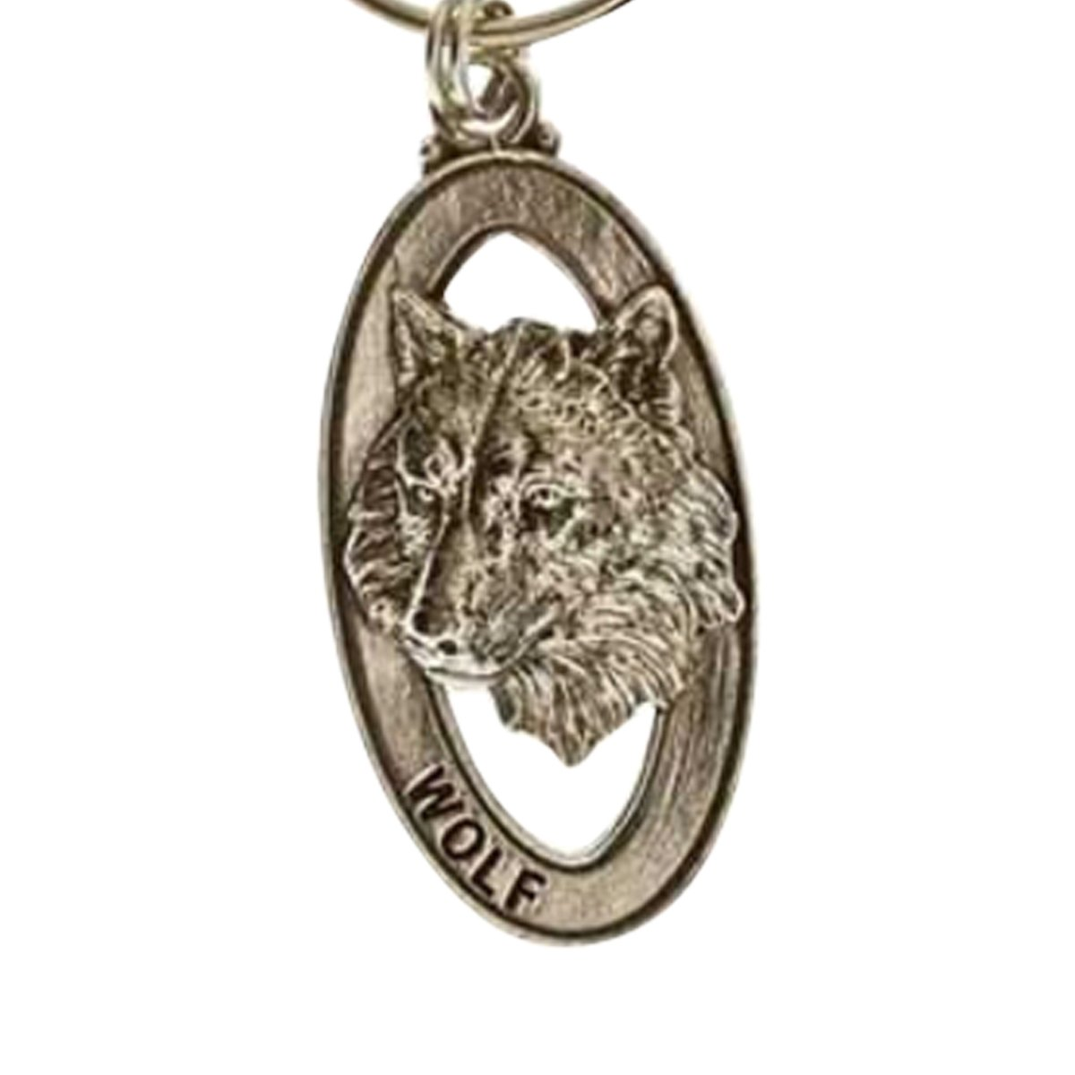 Creative Pewter Designs, Pewter Wolf Head Key Chain, Antiqued Finish, MK041 by Creative Pewter Designs (Image #1)