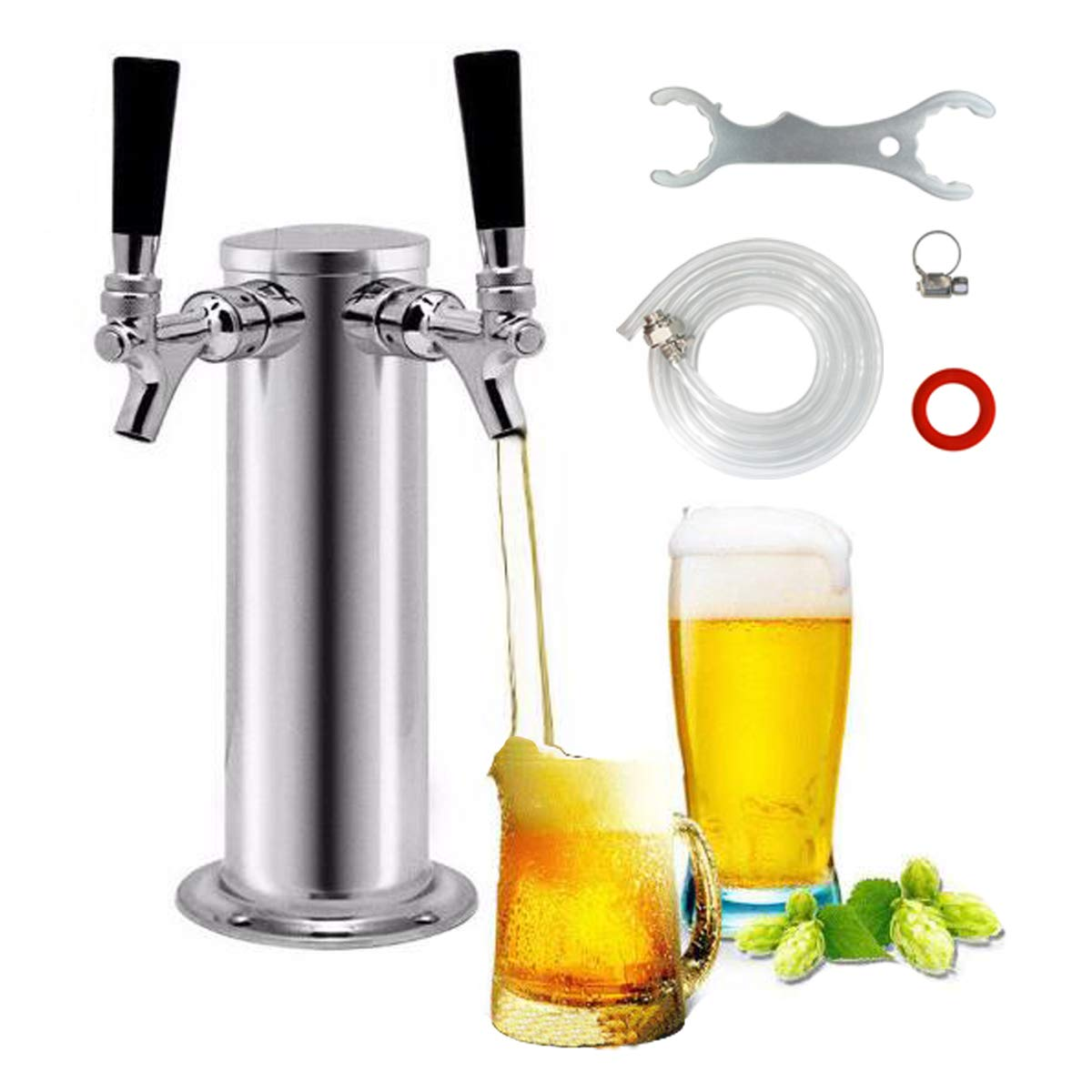 CO SHANGHAI Beer Faucet Beer Line Clamp PERA Brand Including Draft Beer Faucet ID 3//16 OD 7//16 Beer Line 5ft Length with Beer Line Connector Hex Nut and Clamp LTD Spanner Wrench 100/% Quality Guarantee TOMMUR INDUSTRY
