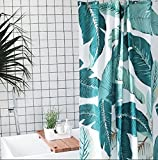 GouuoHi Home Shower Curtain 1pcs Shower Curtain Polyester Fabric Opaque Mildewproof Thickened No Odor Creative 3D Effect Durable Partition Bath Curtain Toilet Shade Super Quality Bathroom Amenities