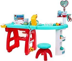 BSD Juego de Imitación - Kit Médico para Niños, Juego Médico, Juego de rol Doctor, Mesa de Doctor con Herramientas Medicas y Accesorios: Amazon.es: Juguetes y juegos
