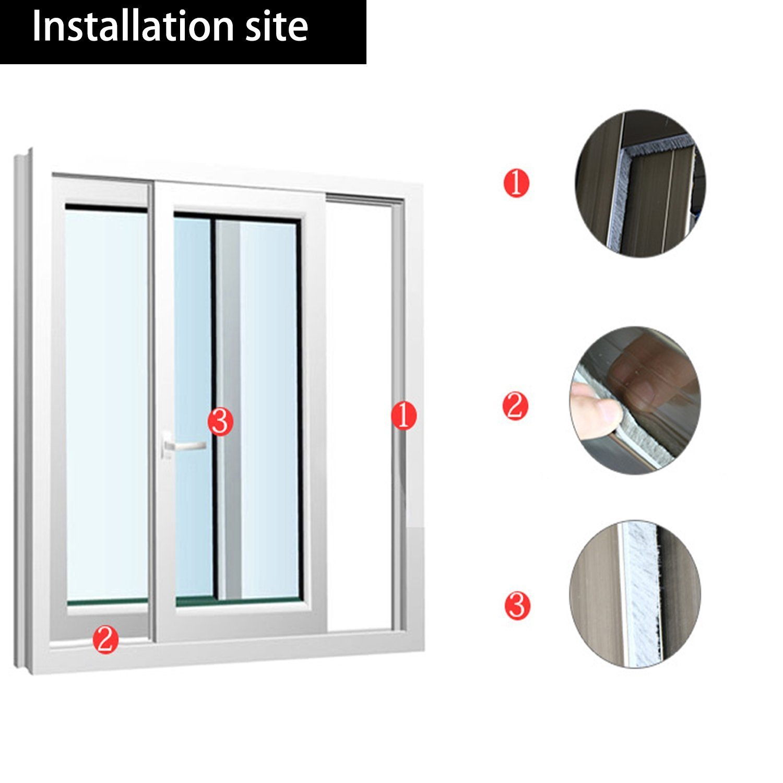 Loobani Sliding Door Window Brush Pile Weather Stripping Adhesive