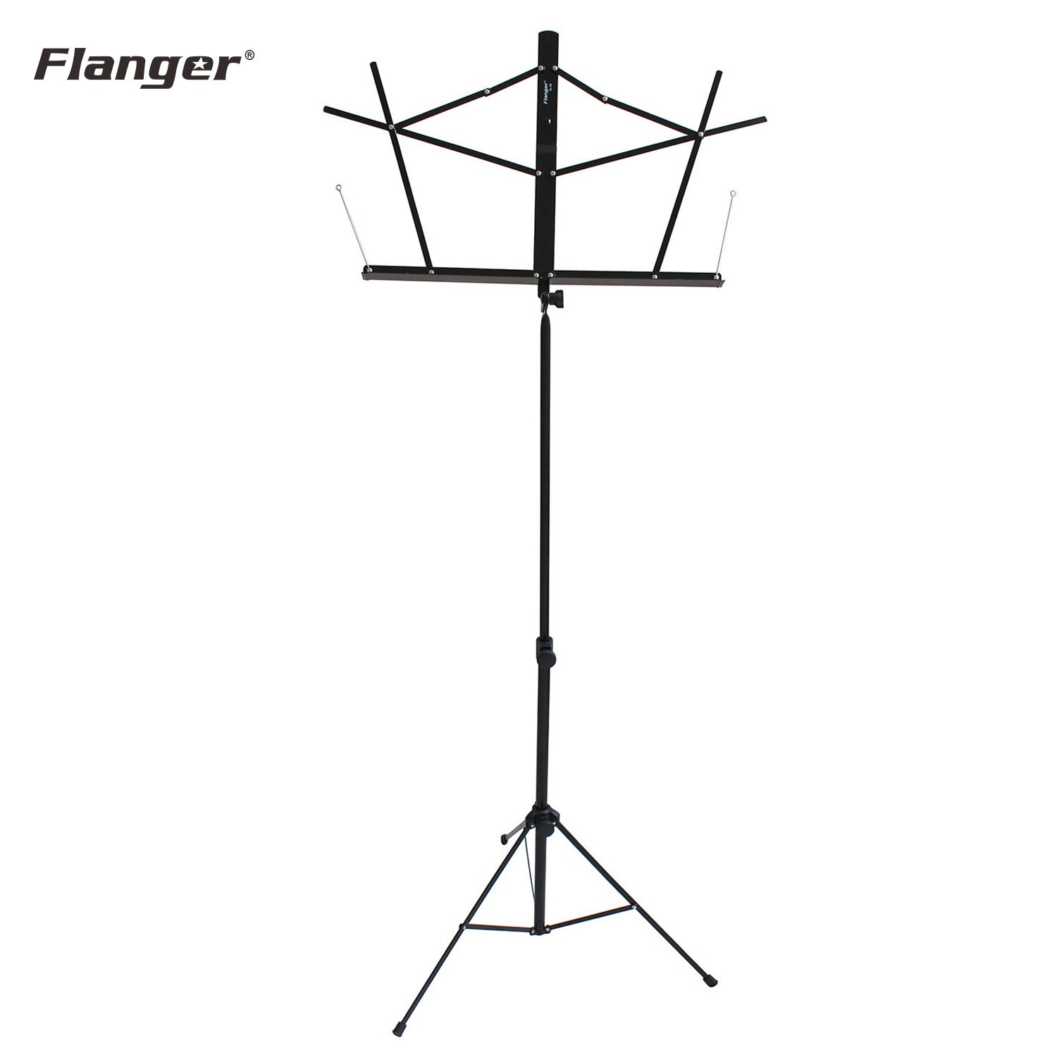 Flanger Fl-09 Black Folding Music Stand For Sheet Music With Carry Bag, 1 Pack