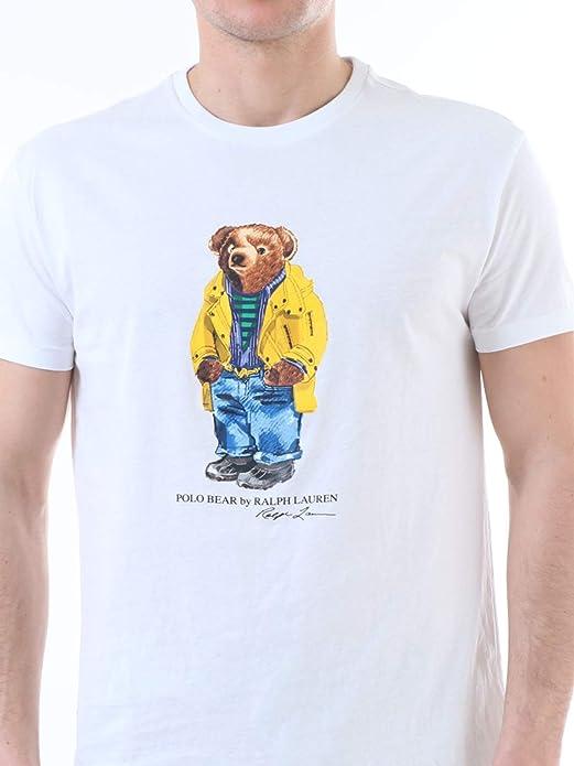 Camiseta Ralph Lauren Polo Bear Blanco Hombre S Blanco: Amazon.es ...