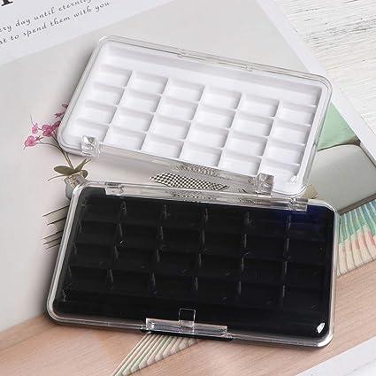 Lurrose 2 piezas con 24 rejillas Paleta Vacía de Maquillaje DIY Maquillaje Herramienta para Lápiz Labial Sombra de Ojos: Amazon.es: Belleza