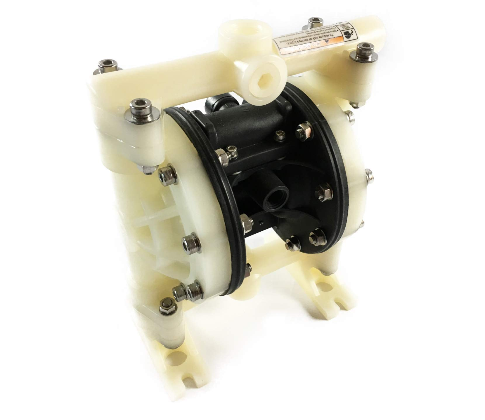 Double Diaphragm Air Pump PII.75 Chemical Industrial Polypropylene 3/4'' NPT Inlet/Outlet
