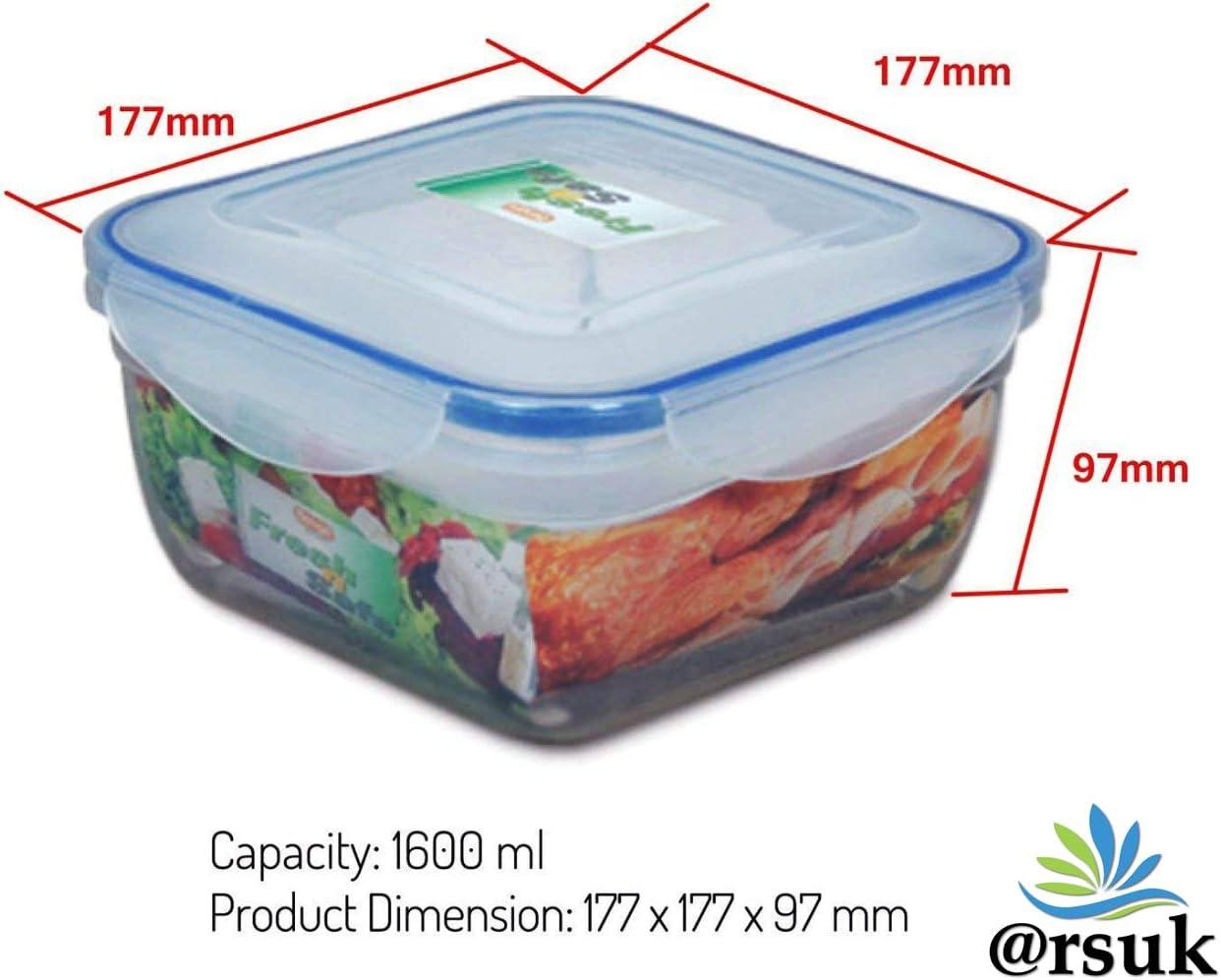 ARSUK Juego de almacenamiento de comida de 7 unidades