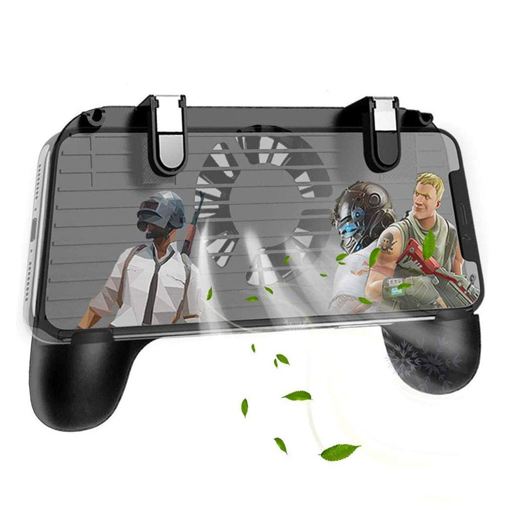 Mobile Controller with Portable Charger Cooling Fan, Mobile Controller L1R1 Mobile Game Trigger Joystick Gamepad Grip Remote for 4-6.5'' Phone【Upgraded Version 2000mAh】 by YOBWIN (Image #1)