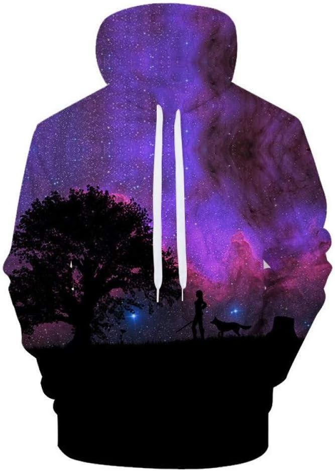BAI Aassdd Sweatshirts Hommes Femmes Sweat À Capuche Sweat 3D Imprimer Costume Pull Streetwear Manteau Top Walk,L * L