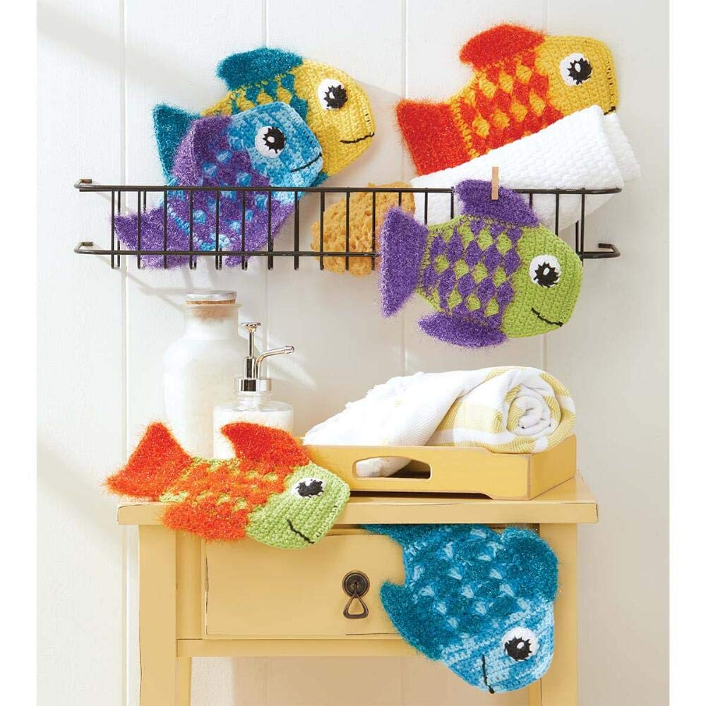 Herrschners® Friendly Fins Washcloths Yarn Kit