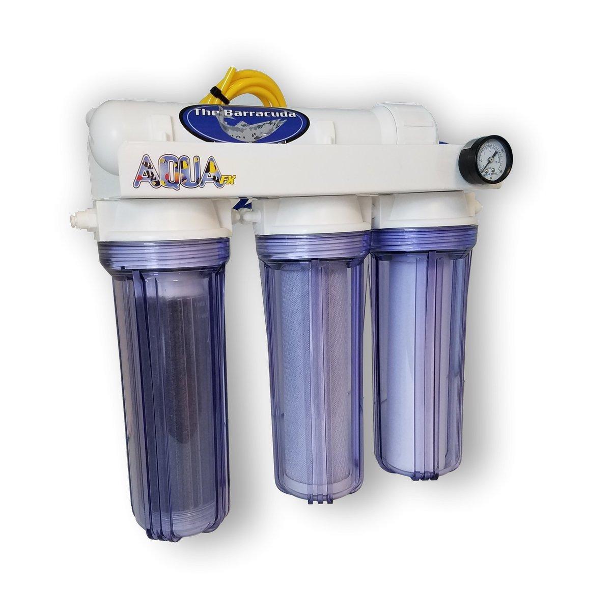 AquaFX Barracuda RO/DI Aquarium Filter, 100 GPD by AquaFX