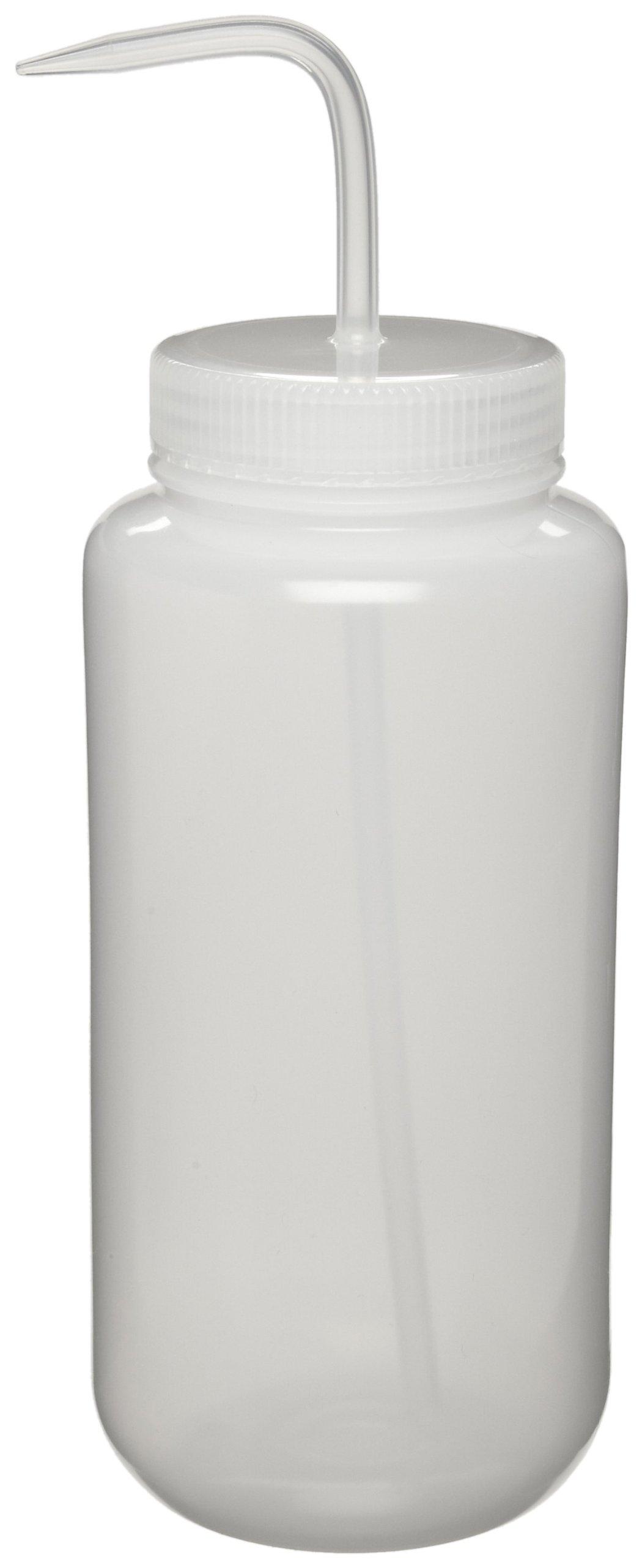 Nalgene 2407-1000 Wide-Mouth Wash Bottle, LDPE, 1000mL (Pack of 2) by Nalgene