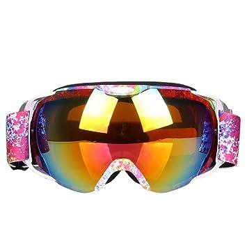 Road&Cool Esquí Gafas De Sol Máscara Antivaho para La Mujer Ciega ...