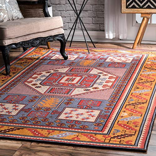 nuLOOM Marnie Tribal Area Rug, 6 x 9 , Rust